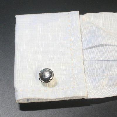 画像3: ラウンドシャイニーカットカフスボタン