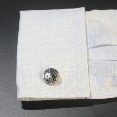 画像3: アンティークシルバークロスデザインカフスボタン