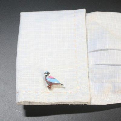 画像3: カラフル鳥モチーフカフスボタン