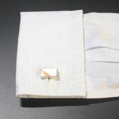 画像3: ピンクゴールド シルバーツートーンカフスボタン