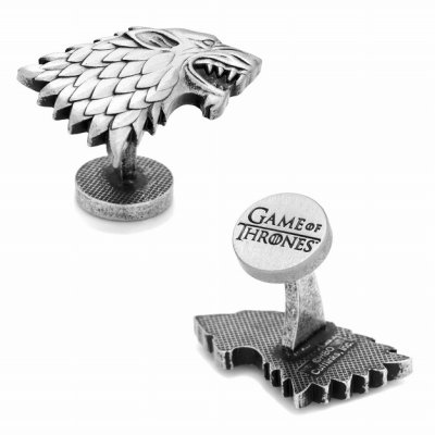 画像1: Game of Thrones ゲームオブスローンズ スターク ダイアウルフカフスボタン