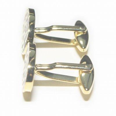 画像2: elizabeth parker エリザベスパーカー ゴールドワイルドパターンカフスボタン