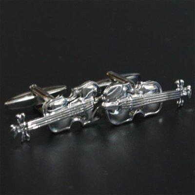 画像1: バイオリン・カフスボタン(カフリンクス)