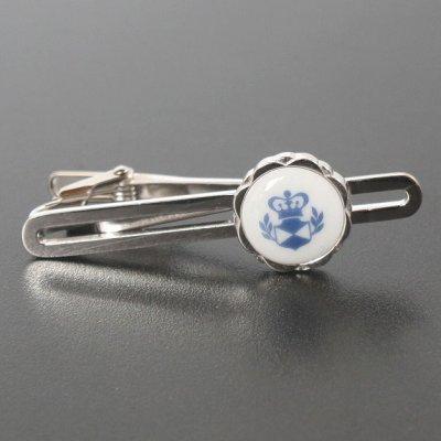 画像2: Swank & Royal Copenhagen スワンク & ロイヤルコペンハーゲン ホワイトブルーデザイン3カフスボタン・ネクタイピンセット