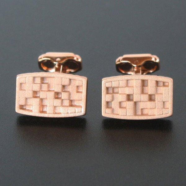 画像1: THOMPSON トンプソン ピンクゴールドキューブデザインカフスボタン・カフリンクス メンズ th075 (1)