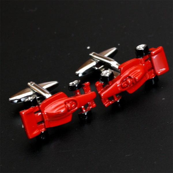 F1カー・レッドカフスボタン(カフリンクス)                                        [ed121]